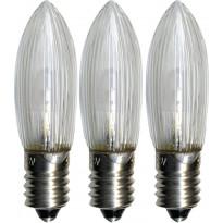 LED-varalamppu Star Trading E10 0,2W 10-55V, Ø45x13mm, 3 kpl