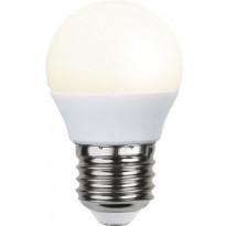 LED-polttimo Star Trading Promo, E27, G45 3W, 3000K, valkoinen