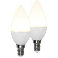 LED-polttimo Star Trading Promo, E14, 3W, 3000K, 10cm, opaali, 2 kpl