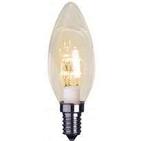 LED-kynttilälamppu Decoration LED 337-11 Ø35x100mm E14 kirkas 0,9W 2100K 75lm
