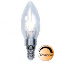 LED-kynttilälamppu Illumination LED 338-01 Ø35x111mm E14 kirkas 3,0W 2700K 250lm himmennettävä