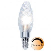 LED-kynttilälamppu Illumination LED 338-02 Ø34x111mm E14 kirkas kierre 3,0W 2700K 220lm himmennettävä