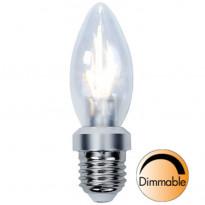 LED-kynttilälamppu Illumination LED 338-03 Ø35x115mm E27 kirkas 4,0W 2700K 325lm himmennettävä