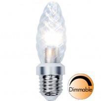 LED-kynttilälamppu Illumination LED 338-04 Ø34x115mm E27 kirkas kierre 4,0W 2700K 325lm himmennettävä