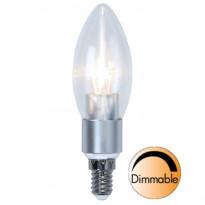 LED-kynttilälamppu Illumination LED 338-05 Ø37x121mm E14 kirkas 5,0W 2700K 470lm himmennettävä
