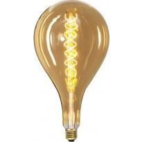 LED-polttimo Star Trading Industrial Vintage, E27, S165, 6W, 2000K himmennettävä, meripihka