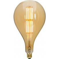 LED-polttimo Star Trading Industrial Vintage, E27, S165, 10W, 2000K himmennettävä, meripihka