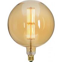 LED-polttimo Star Trading Industrial Vintage, E27, G200, 10W, 2000K himmennettävä, meripihka