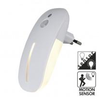 LED-yölamppu 357-13 58x64x114 mm 1,8W pistotulpalla + hämäräkytkimellä + liiketunnistimella