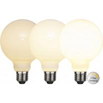 LED-lamppu Star Trading Illumination LED 3-step click 375-86, Ø95x138mm, E27, opaali, 7.5W, 2700K, 80/400/800lm