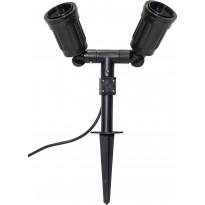 Maapiikkivalaisin Star Trading Outdoor Spotlight, 270x220x75mm, 2-osainen, musta
