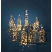 LED-valoketju Star Trading Dew Drop, 300cm, lämmin valkoinen