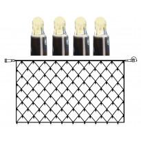 Valoverkko System LED Extra musta 8W 100 valoa 2x1m lämmin valkoinen