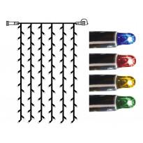 Valoverho System LED Extra musta 8W 102 valoa 1x2m monivärinen