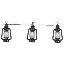 LED-lyhtyketju Star Trading Lanterna, IP44, 280cm, vihreä
