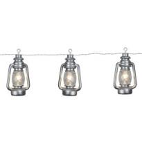 LED-lyhtyketju Star Trading Lanterna, IP44, 280cm, hopea