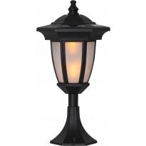 Aurinkokennopuutarhavalaisin Star Trading Flame LED, 155x630x155mm, musta