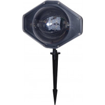 Projektorivalaisin Star Trading Ledlight RGB+W, 220x250x185mm, musta