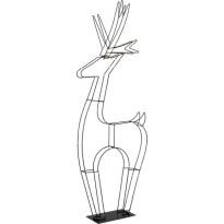 LED-valokoriste Star Trading Cupid, Poro, 120cm, musta
