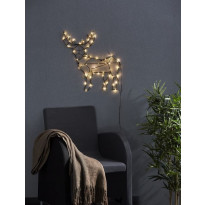 LED-seinäkoriste Star Trading Cupid, Poro, 47x50cm, musta