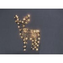 LED-seinäkoriste Star Trading Cupid, Poro, 50,5x70cm, musta