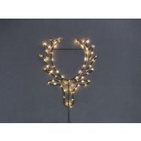 LED-hirvenpää Star Trading Cupid, 58,5x70cm, musta