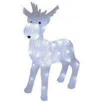 LED-koristehirvi Star Trading Crystalo, 38x48cm, ulkokäyttöön