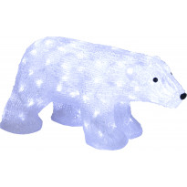 LED-koristejääkarhu Star Trading Crystalo, 49,5x25x24cm, ulkokäyttöön
