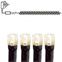 Mikro-LED-valoklusteri Star Trading, IP44, 230cm, chaser, musta