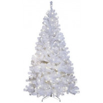 LED-joulukuusi Star Trading Ottawa 210cm, IP44, valkoinen, Verkkokaupan poistotuote