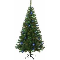 LED-joulukuusi Star Trading Kalix, 195cm, RGB, vihreä, Verkkokaupan poistotuote
