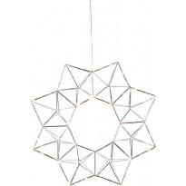 Valokranssi Star Trading Edge, LED, Ø40cm, kromi
