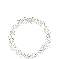 Valokoriste Star Trading Curly, LED, Ø45cm, kromi