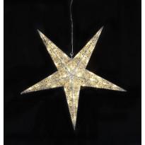 Valotähti Star Trading Sequini, LED, Ø75cm, hopea