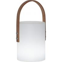 Ladattava LED-lyhty Star Trading Lucie, 190x340x170mm, valkoinen/pyökki