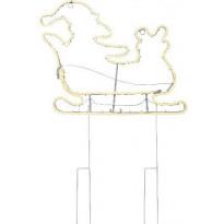 LED-valonauhasiluetti Star Trading Joulupukin reki, 52cm, IP44, valkoinen