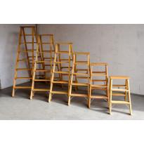 Puutikkaat, 8-askelmaiset, 2-puoliset A-tikkaat, Iller Leiter