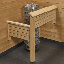 Kiukaan suojakaide/jalkatuki Sun Sauna Classic L-malli