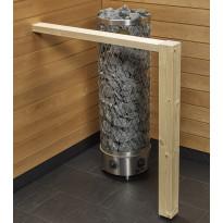 Kiukaan suojakaide/jalkatuki Sun Sauna Log I-malli, kuusi