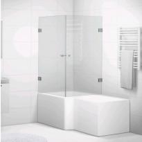 Suihkukulma kylpyammeelle 85x85 Svedbergs 180° kirkas lasi