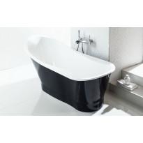 Kylpyamme Svedbergs Scarlett, 1650x770mm, valumarmori, musta/valkoinen