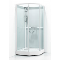 Suihkukaappi Svedbergs Ritual Classic 80x90, valkoinen, kirkas lasi