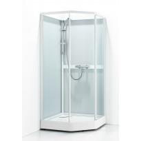Suihkukaappi Svedbergs Ritual Classic 90x80, valkoinen, kirkas lasi