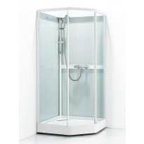 Suihkukaappi Svedbergs Ritual Classic 90x90, valkoinen, kirkas lasi