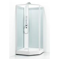 Suihkukaappi Svedbergs Ritual Premium 80x90, valkoinen, kirkas lasi
