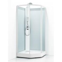 Suihkukaappi Svedbergs Ritual Premium 90x90, valkoinen, kirkas lasi