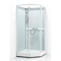 Suihkukaappi Svedbergs Ritual Classic 80x90, valkoinen, kirkas lasi/huurrelasi