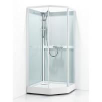 Suihkukaappi Svedbergs Ritual Classic 90x80, valkoinen, kirkas lasi/huurrelasi