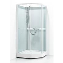 Suihkukaappi Svedbergs Ritual Classic 90x90, valkoinen, kirkas lasi/huurrelasi