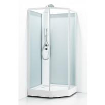 Suihkukaappi Svedbergs Ritual Premium 80x90, valkoinen, kirkas lasi/huurrelasi